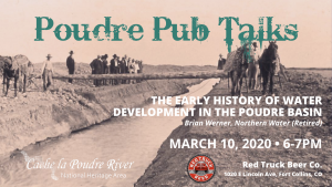 Poudre Pub Talk: The Early History of Water Development in the Poudre Basin @ Red Truck Beer Co. | Fort Collins | Colorado | United States